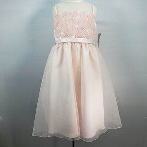 US ANGELS ORGANZA FLOWER GIRL DRESS STYLE 100